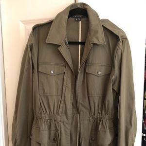 Military green field jacket